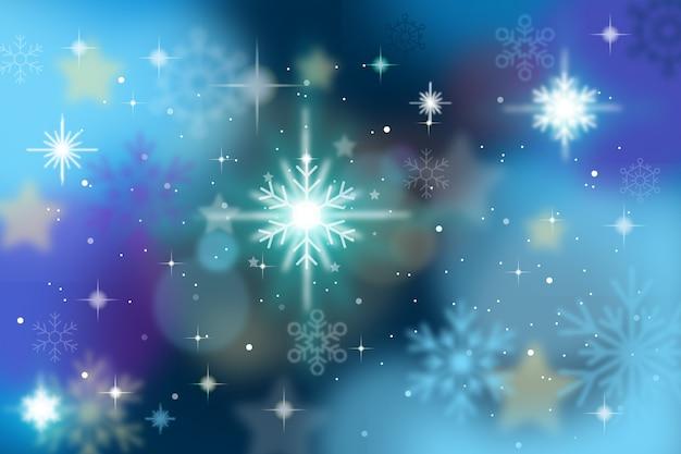 輝く背景のクリスマスコンセプト