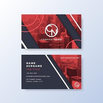 Шаблон визитной карточки абстрактный стиль
