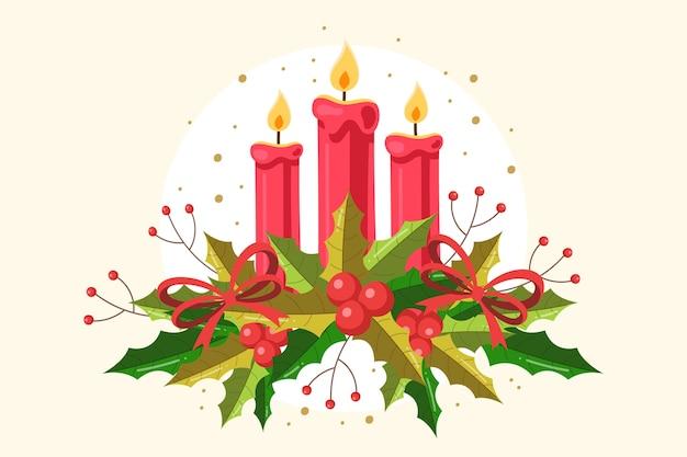 Старинные рождественские свечи фон