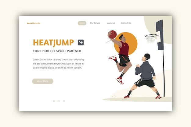 屋外スポーツのランディングページテンプレート