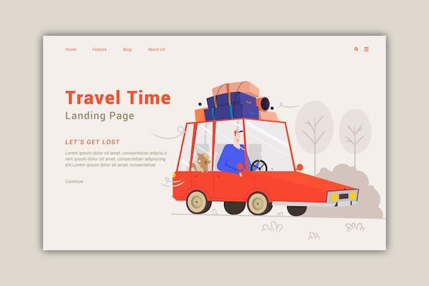 Целевая страница шаблона путешествия