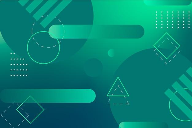 Фон зеленый абстрактный геометрический