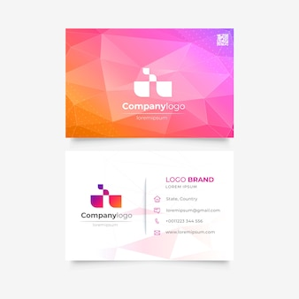 Низкополигональная шаблон визитной карточки