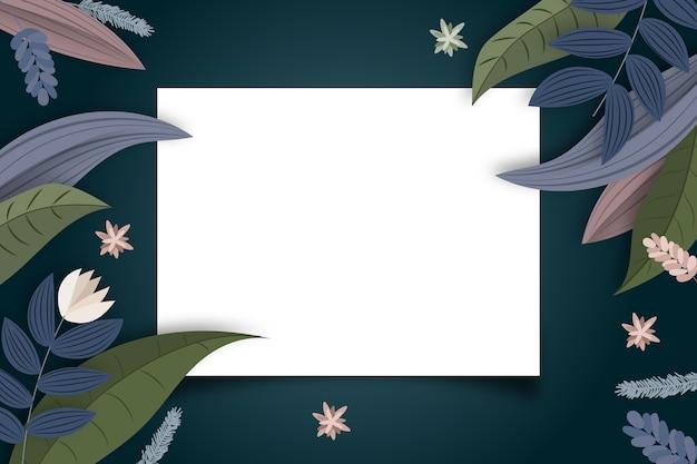 Зимний цветочный фон с копией космического значка