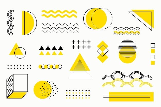 Фон плоские геометрические модели