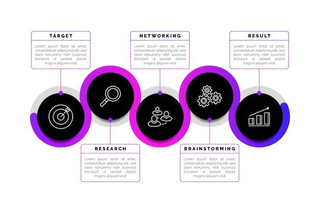 Сроки градиента бизнес инфографики