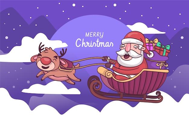 Рождественская концепция в рисованной