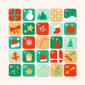 Ручной обращается праздничный календарь пришествия