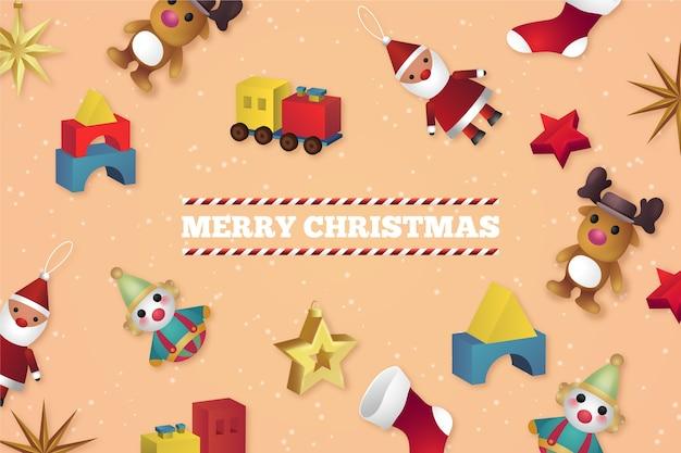 Реалистичные новогодние игрушки фон