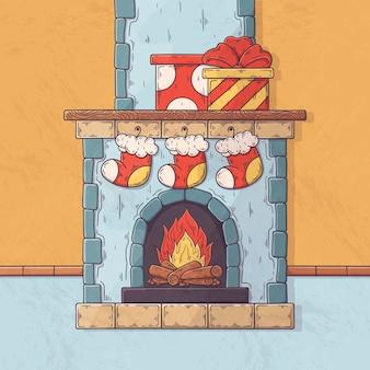 Рождественский камин