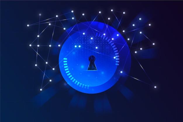 Абстрактный технологии безопасного фона