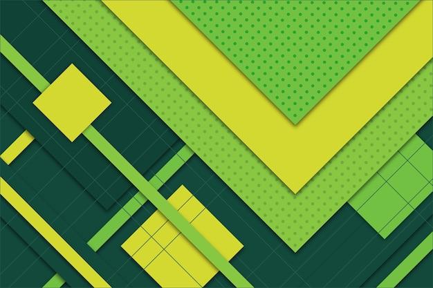 Зеленый абстрактный геометрический фон