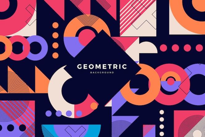 Плоский дизайн геометрических фигур фон