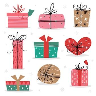Ручной обращается коллекция рождественских подарков