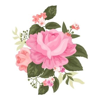 美しいビンテージ花の花束