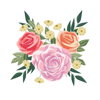 カラフルなビンテージ花の花束