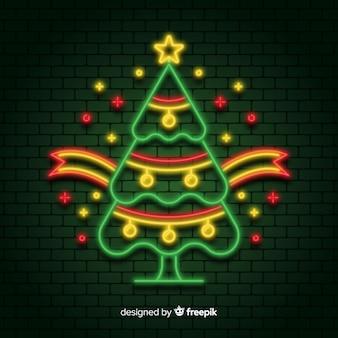 Красочная неоновая рождественская елка