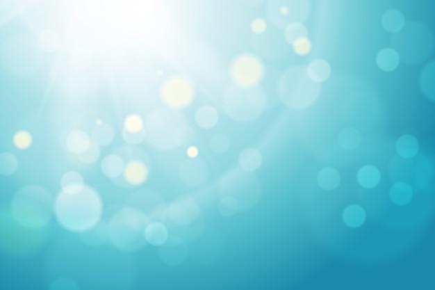 Синий градиентный фон с эффектом боке