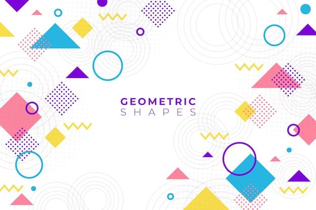 Плоский дизайн геометрических фигур фон в стиле мемфиса