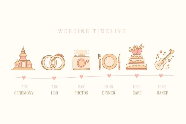 Ручной обращается свадебный график