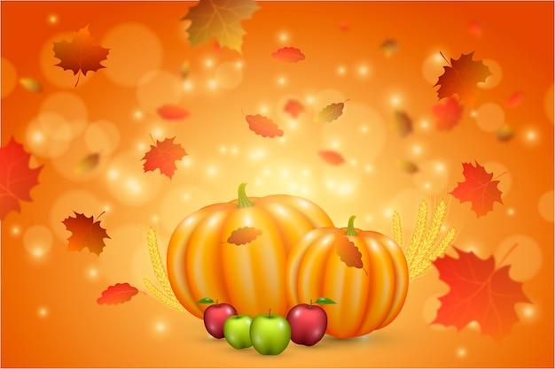 背景の現実的な感謝祭