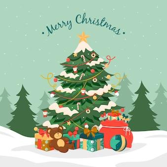 Красочная старинная рождественская елка