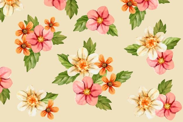 現実的な手描きの花の背景