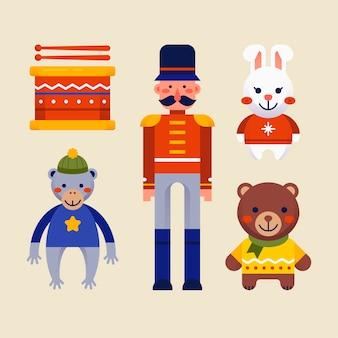 フラットなデザインのクリスマスグッズコレクション