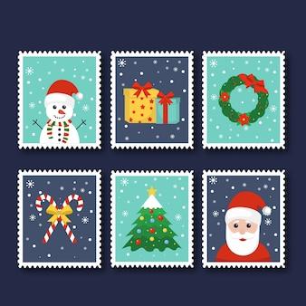 手描きクリスマススタンプコレクション