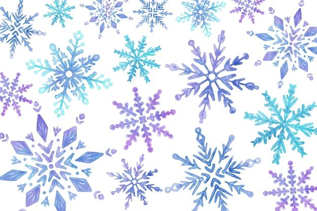 背景水彩冬