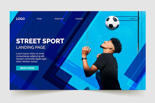 画像付きのランディングページスポーツ