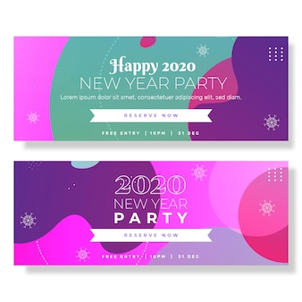 フラットなデザインのバナー新年会