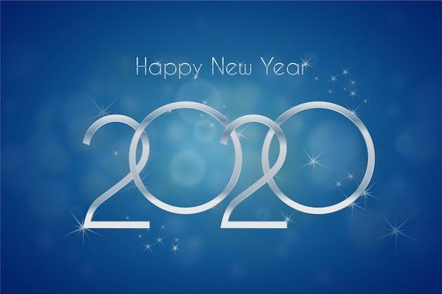 銀の新年の背景