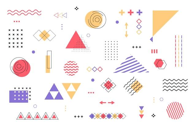 フラットなデザインの幾何学的モデルの背景