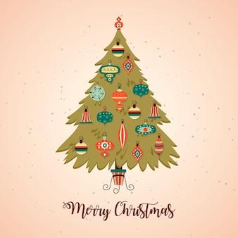 ビンテージクリスマスツリーの概念