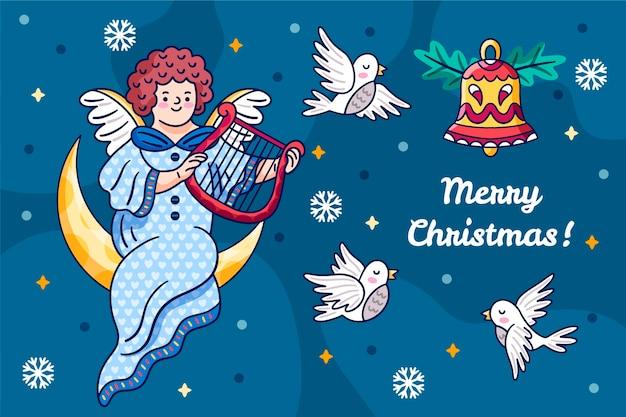 手描きのクリスマスコンセプト