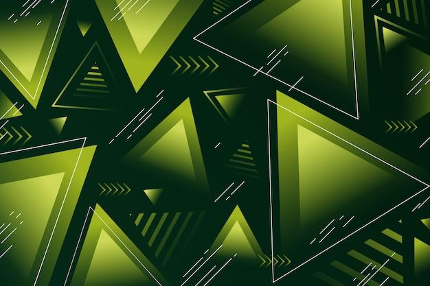 緑の図形と抽象的な緑の背景
