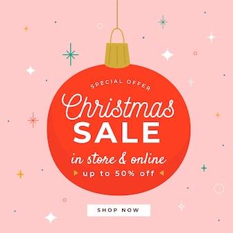 Ручной обращается рождественский бал дизайн продажи