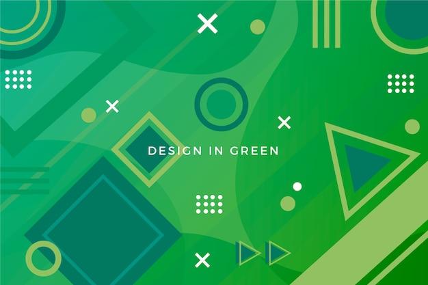 Зеленый абстрактный геометрический поли фон