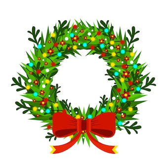 クリスマスと新年のモミの木の花飾り