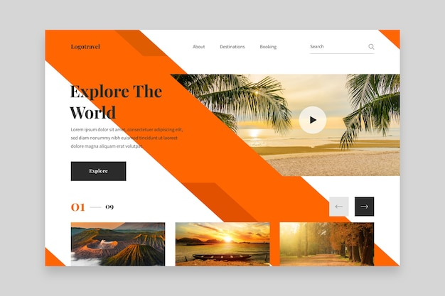 Исследуйте мировую целевую страницу курортного отеля