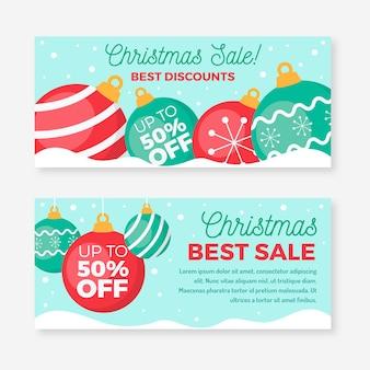 Декоративные праздничные шары, рождественские продажи, баннеры