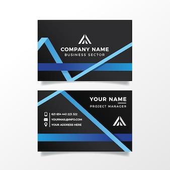 Набор шаблонов абстрактных визитных карточек