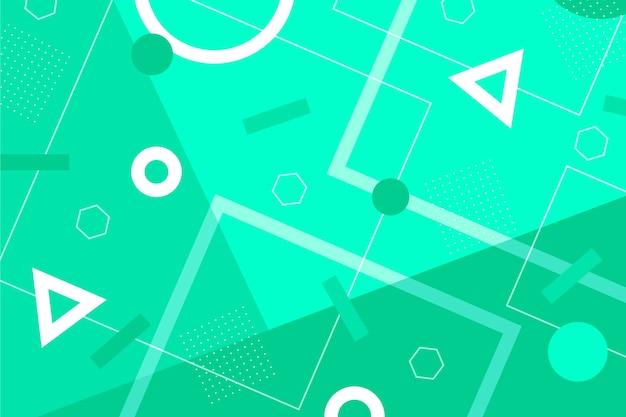 緑の抽象的な幾何学的な壁紙