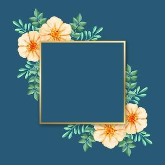 Роскошная рамка с зимними цветами