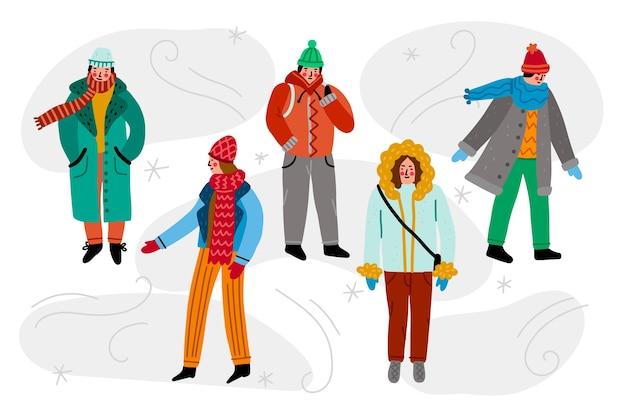 冬服パックを着ている人