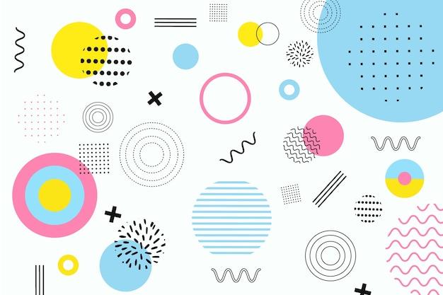 Заставка абстрактных геометрических фигур