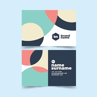 Визитная карточка абстрактный шаблон коллекции