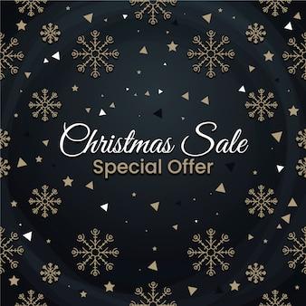 Квартира рождественская распродажа специальное предложение со снежинками