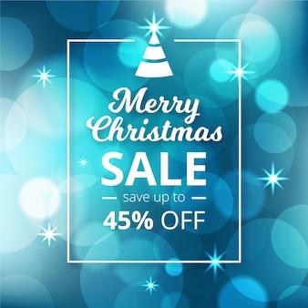 Размытые боке рождественские продажи предложения